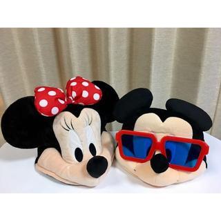 ディズニー(Disney)のディズニー☆ファンキャップ☆ ミッキー&ミニー(キャラクターグッズ)