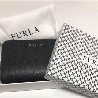 フルラ(Furla)の【新品】フルラ♡二つ折り財布 サフィアーノ︎✧ブラック(財布)