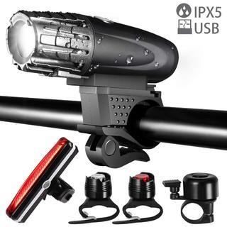 送料無料★自転車 ライト 防水 usb充電 テールライト ヘッドライト LED(その他)