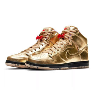 NIKE - HUMIDITY NIKE SB DUNK HIGH METALLIC GOLD