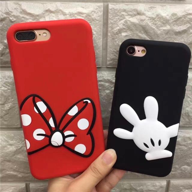 ba972fc6ce Disney - iPhoneシリコンケース ミッキー&ミニー☆対応機種多数☆の通販 ...