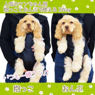 ■Sサイズ だっこひも 犬 デニム おさんぽ いつもいっしょ おでかけ