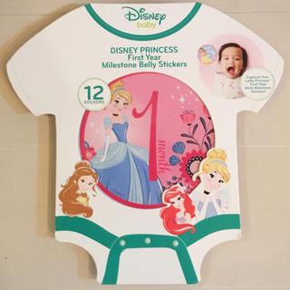 ディズニー(Disney)の新品 メモリー スティッカー  プリンセス ディズニー 成長記録 記念日 写真(フォトフレーム)