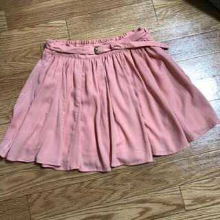 ミスティウーマン(mysty woman)のmysty woman ベルト付ピンクスカート☆(ひざ丈スカート)