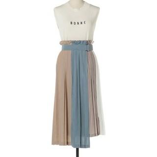 レディアゼル(REDYAZEL)の☆REDYAZEL☆カラーブロックラッププリーツスカート☆(ひざ丈スカート)