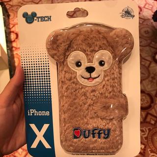 ディズニー(Disney)のダッフィー もこもこ ふわふわ iphone X手帳型ケース(iPhoneケース)