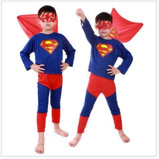 スーパーマン コスチューム  ハロウィン Lサイズ(Tシャツ/カットソー)