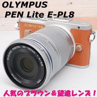 オリンパス(OLYMPUS)の☆WiFi搭載&望遠レンズ!☆ OLYMPUS オリンパス PEN E-PL8(ミラーレス一眼)