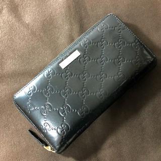 グッチ(Gucci)のGUCCI グッチシマ 長財布 ブラック(長財布)