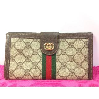 グッチ(Gucci)の美品 ヴィンテージ グッチ シェリー お札入れ 長財布 カードケース(長財布)