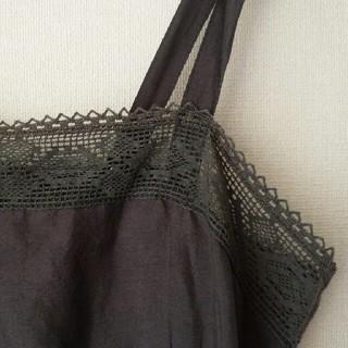 ドゥロワー(Drawer)のdosa◇薄墨のような黒のキャミソールワンピース size1 silk100(ひざ丈ワンピース)
