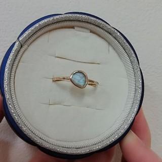 アガット(agete)のK10 YG アガット スキニーリング ラブラドライト(リング(指輪))