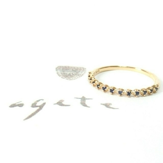 アガット(agete)のアガット サファイアのK14リング 9号/ハーフエタニティリング(リング(指輪))