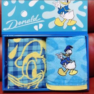 ディズニー(Disney)のドナルドとプーさんのフェイスタオル(タオル)