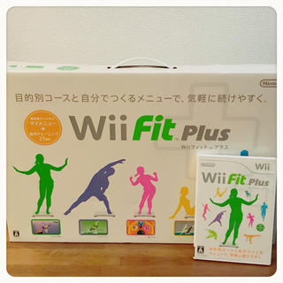 Wii - Wii fit Plus本体 ゲームソフト 2点セット