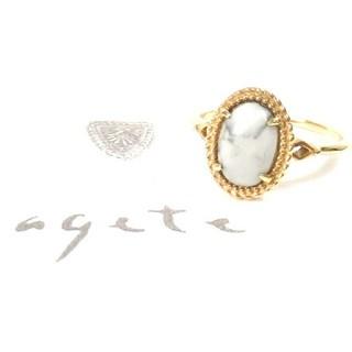 アガット(agete)のアガット マグネサイトのK10リング 12号(リング(指輪))