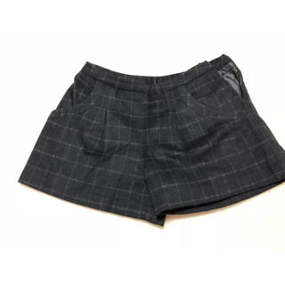 ジーユー(GU)のGU ショートパンツ 黒チェック(ショートパンツ)