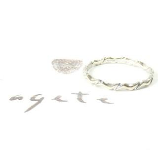 アガット(agete)のアガット K10リング 9号/K10WGウェービーリング(リング(指輪))