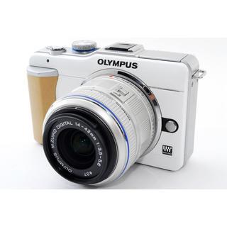 オリンパス(OLYMPUS)の☆シンプルな操作性♪WiFi対応☆オリンパス E-PL1 ホワイト レンズキット(ミラーレス一眼)