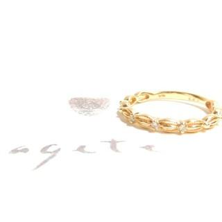 アガット(agete)のアガット 0.02ctダイヤモンド・K10リング/ドレスリング 7号(リング(指輪))