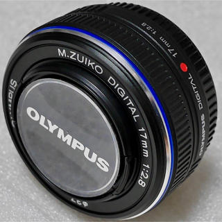 オリンパス(OLYMPUS)の 美品 オリンパス 17mm F2.8 パンケーキレンズ 単焦点レンズ ブラック(レンズ(単焦点))