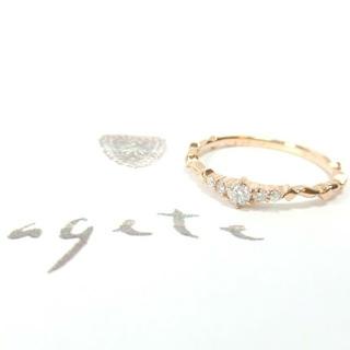 アガット(agete)のアガットクラシック 0.08ctダイヤ付K18リング 7号/ルミナスリング(リング(指輪))