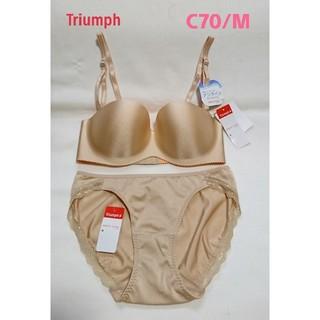 トリンプ(Triumph)のトリンプ*究極にひびきにくいアンライン ブラ&ショーツセット C70/M(ブラ&ショーツセット)