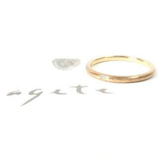 アガット(agete)のアガット 0.005ct一粒ダイヤモンドのK10リング 9号(リング(指輪))