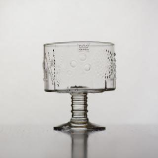 アラビア(ARABIA)のARABIA Nuutajarvi flora 脚付きボウル(グラス/カップ)