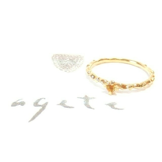 アガット(agete)のアガット シトリンのK10ピンキーリング 3号(リング(指輪))