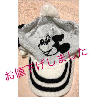 ディズニー(Disney)のレディースニット帽。mickey(その他)