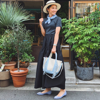 ドゥロワー(Drawer)の田中彩子・メディロス希代美着 cecilie bahnsenロングフレアスカート(ロングスカート)