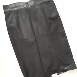 ジョゼフ(JOSEPH)のジョゼフ スカート 革 スタイリッシュ 黒(ひざ丈スカート)