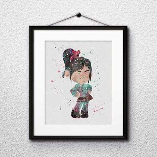 ディズニー(Disney)のヴァネロペ(シュガーラッシュ)アートポスター【額縁つき・送料無料!】(ポスター)
