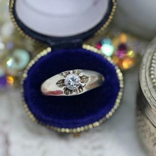 生子 菊爪 シルバー ヴィンテージ リング 指輪(リング(指輪))