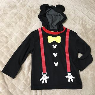 ディズニー(Disney)の120 ミッキーマウス フード付きパジャマ ハロウィン 仮装 フーディ ミッキー(パジャマ)