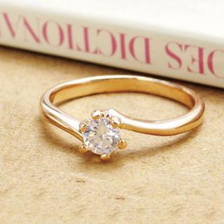 13号◆CZダイヤリング ピンクゴールド(リング(指輪))