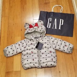 ベビーギャップ(babyGAP)の90 ミニー ディズニーコラボ 耳つきアウター(ジャケット/上着)