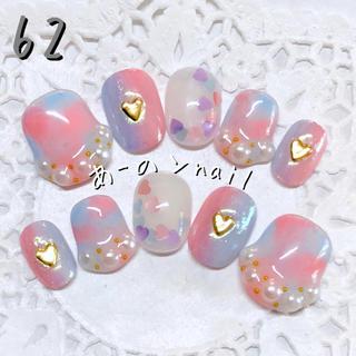 送料&カラー変更1色無料«62»ジェルネイルチップ♡*.