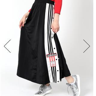 アディダス(adidas)の★新品★アディダス★ロングスカート★ブラック★XS(ロングスカート)
