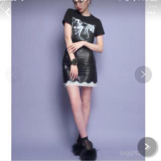 リルリリー(lilLilly)の♡リルリリー lilLilly メタリックレースタイトスカート♡(ミニスカート)