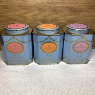 ウェッジウッド(WEDGWOOD)の☆ウェッジウッド 紅茶 3缶 オレンジペコ& ブレックファースト&アールグレイ(茶)