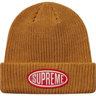 シュプリーム(Supreme)の【新品】supreme18F/W Week4 Oval Patch Beanie(ニット帽/ビーニー)