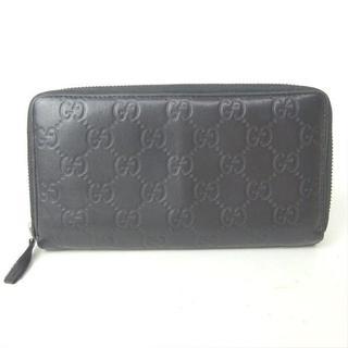 グッチ(Gucci)のグッチ 長財布 財布 ラウンドファスナー グッチシマ 307987 型押し(長財布)