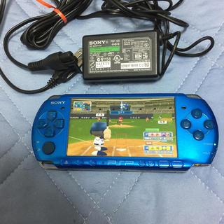 プレイステーションポータブル(PlayStation Portable)のPSP本体アクアブルー(携帯用ゲーム本体)