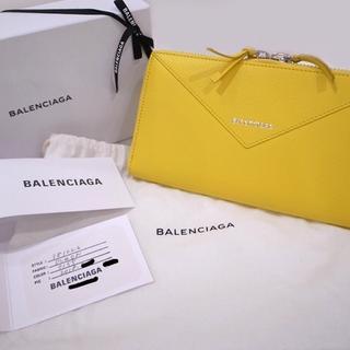 Balenciaga - 国内正規品 バレンシアガ 長財布 ペーパー コンチネンタル イエロー
