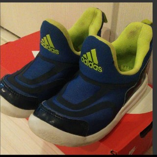 アディダス(adidas)のアディダス adidas スニーカー 青 ハイマ スリッポン 17.5(スニーカー)