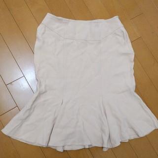 アクアブルー(Aqua blue)の桜色マーメイドスカート(ひざ丈スカート)