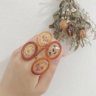 handmade * dryflower ring