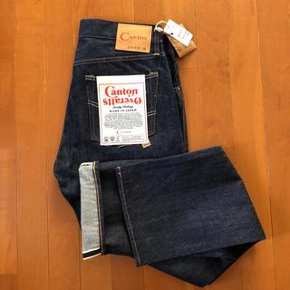 キャントン(Canton)のCANTON OVERALLS LOT.110 W33 リジット セルヴィッチ(デニム/ジーンズ)